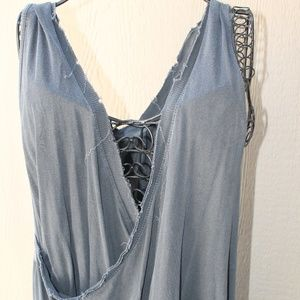 Free People Distressed Tank Tops SET OF TWO